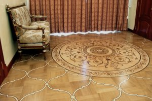 Hardwood floor medallion - 1